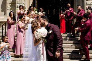 Claudia and Juan kiss