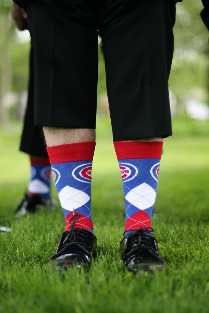 Delaney and Ross groom's socks