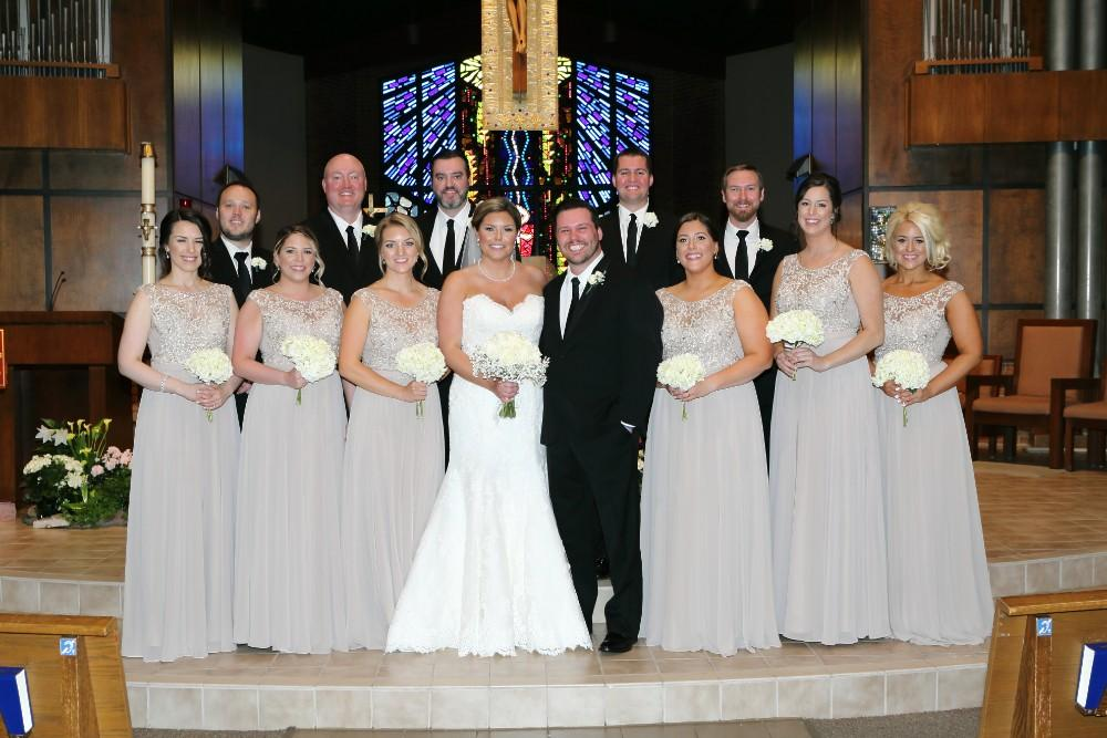 Delaney and Ross wedding party