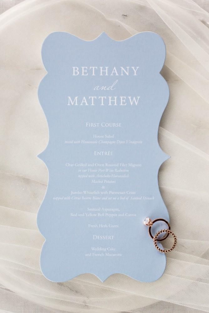 Dusty Blue Romance invitation