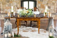 Dusty Blue Romance table