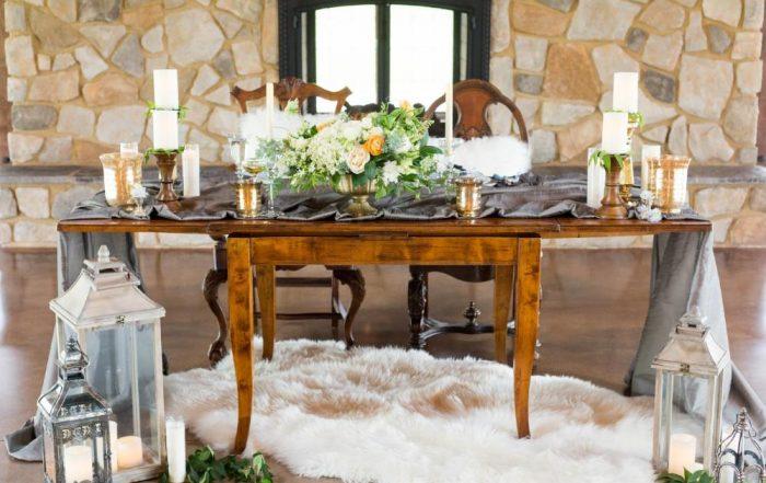 Dusty Blue Romance table