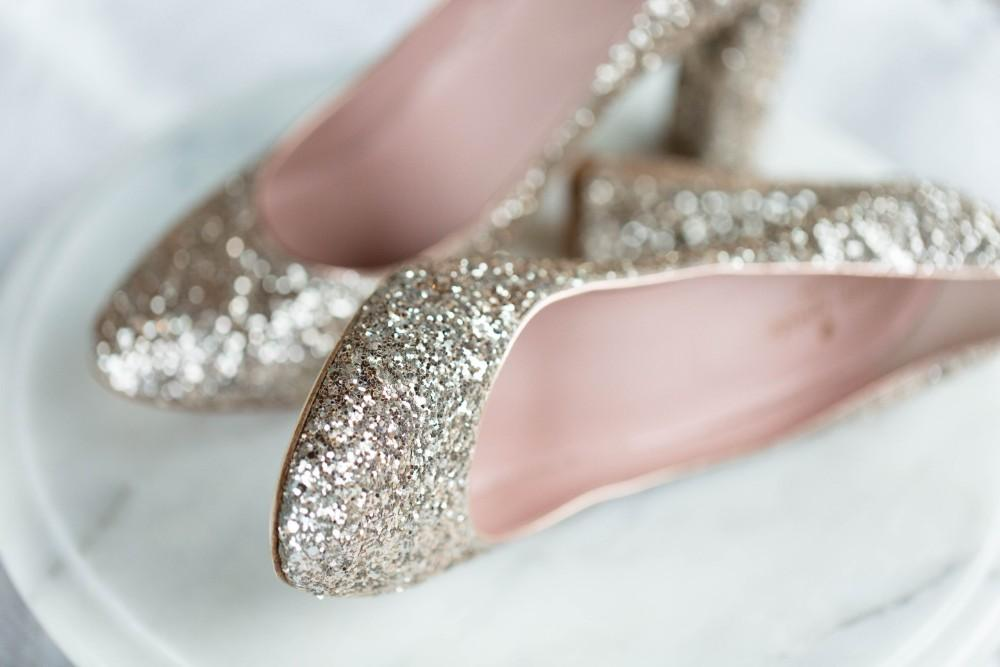 Dusty Blue Romance wedding shoes