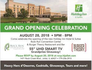 Holiday Inn Joliet Grand Opening Celebration August 2018 - Rock Run Convention Center - Burger Theory Restaurant and Bar