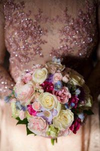tina and jonathan bride's bouquet