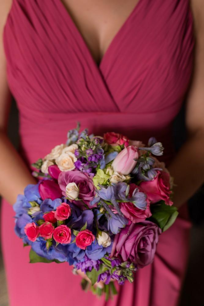 tina and jonathan bridesmaid bouquet
