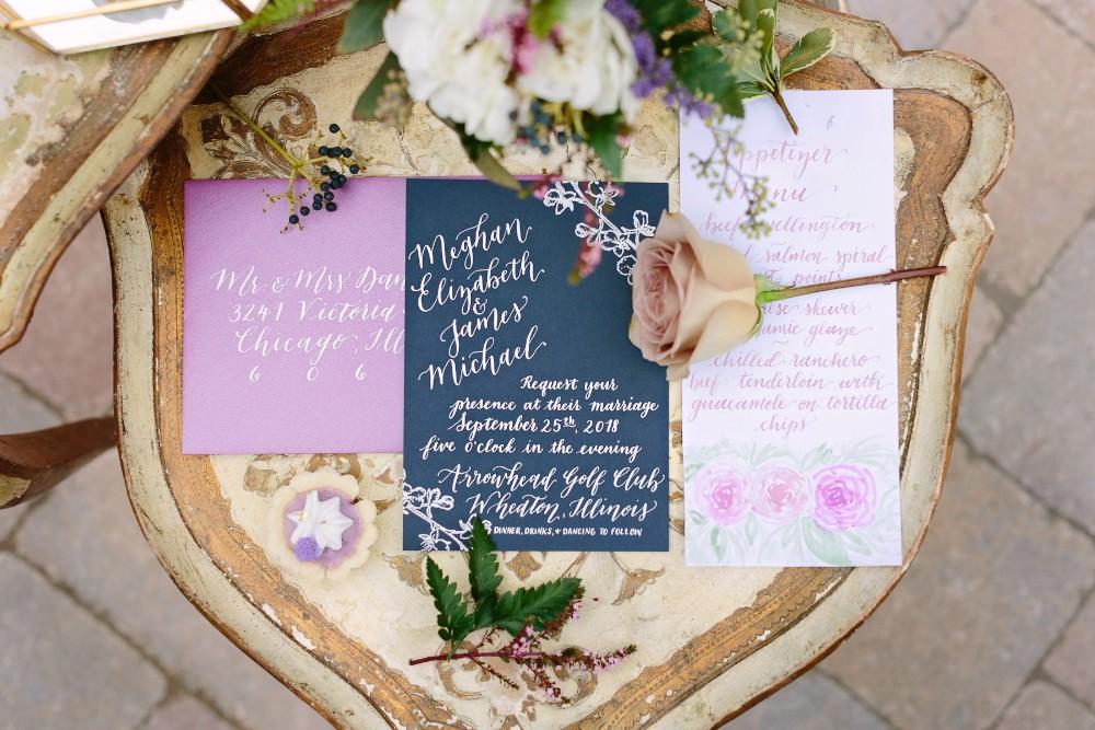 garden party invitation suite