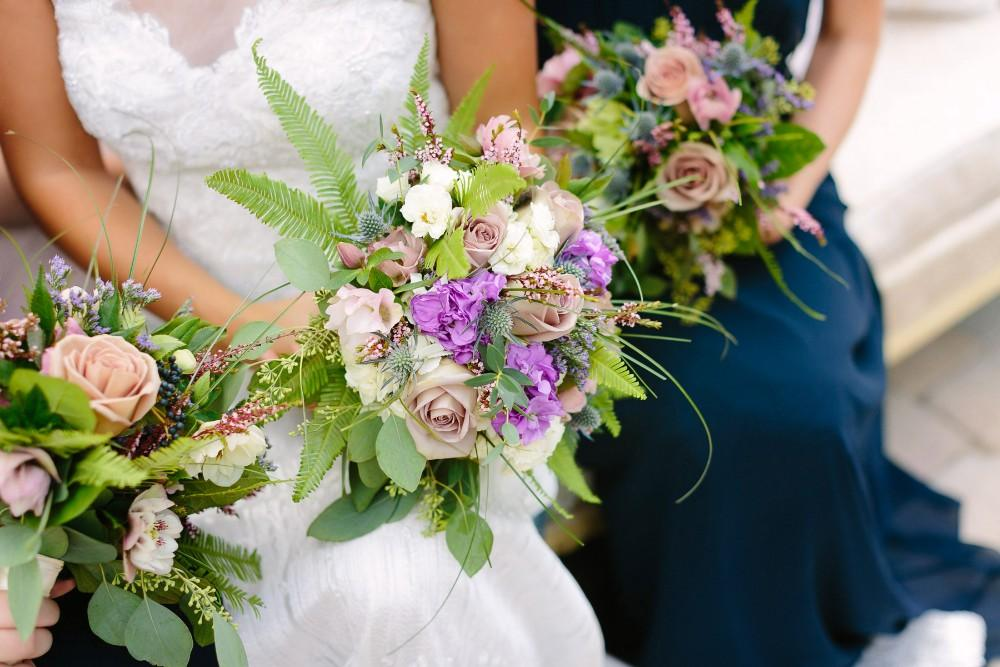 garden party bridal party flowers