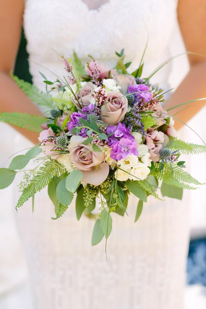 garden party bride bouquet