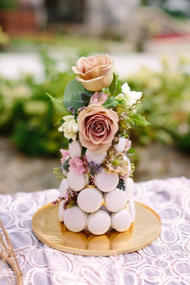 garden party macaron tower