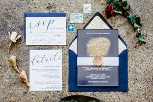 big fake wedding stationery suite