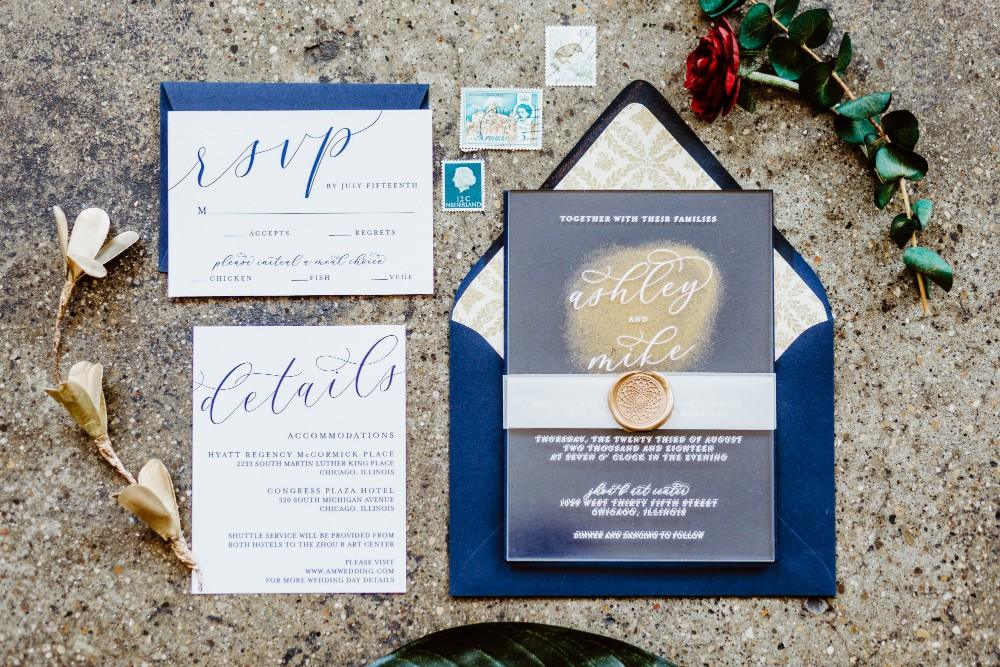big fake wedding stationery suite