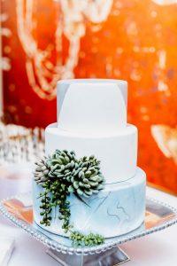 big fake wedding cake