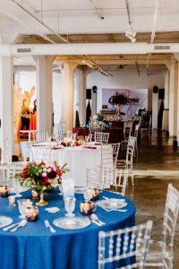 big fake wedding reception