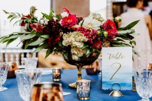 big fake wedding table place setting