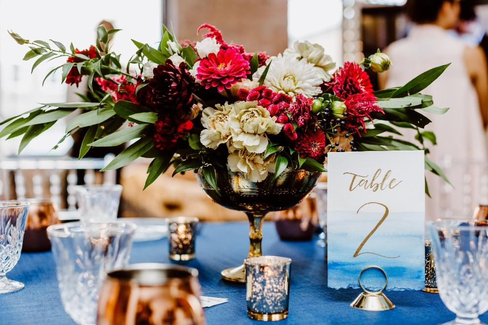 big fake wedding table place setting