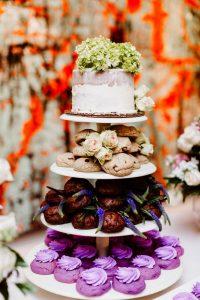 big fake wedding desserts