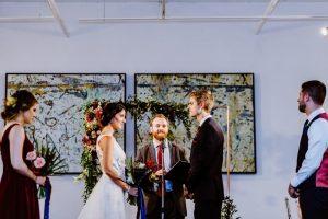 big fake wedding chicago ceremony