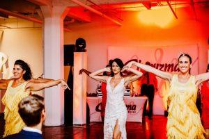 big fake wedding dance number