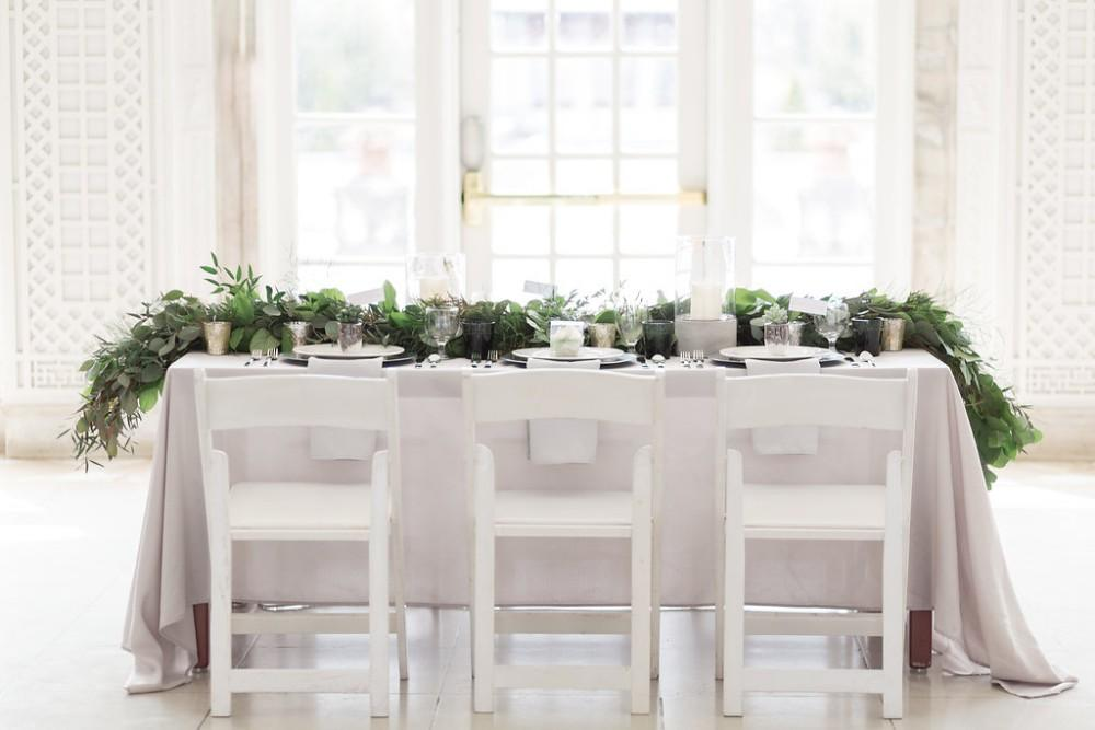 romantic greenery table and chairs