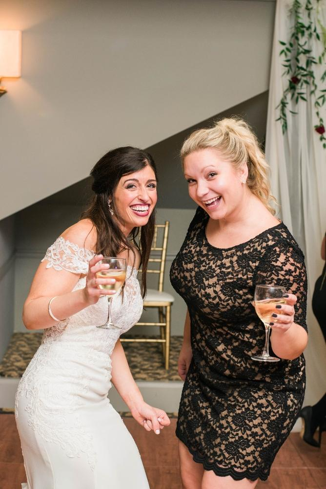 Christine Ken bride at reception