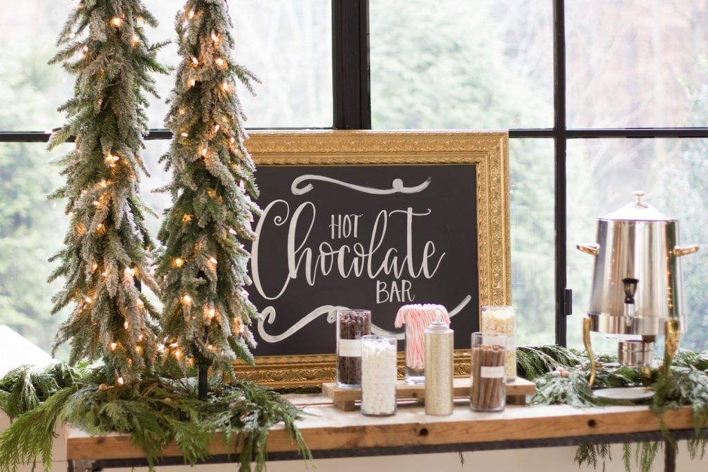gold winter wonderland christmas themed birthday party