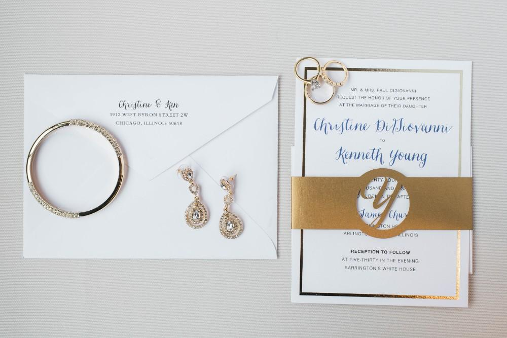 Christine Ken stationery suite with rings