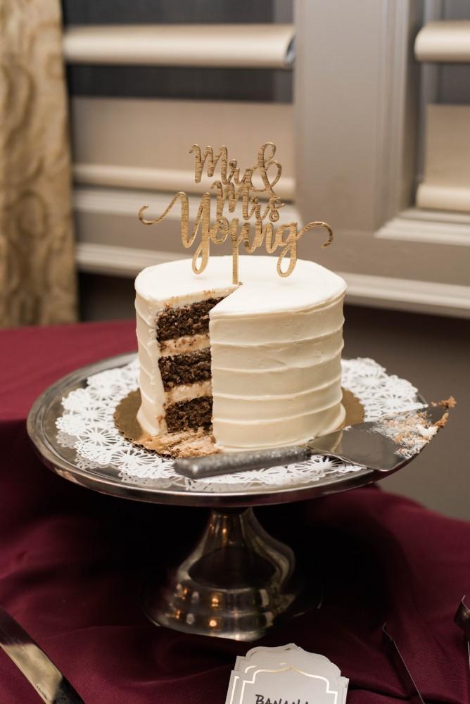 Christine Ken wedding cake