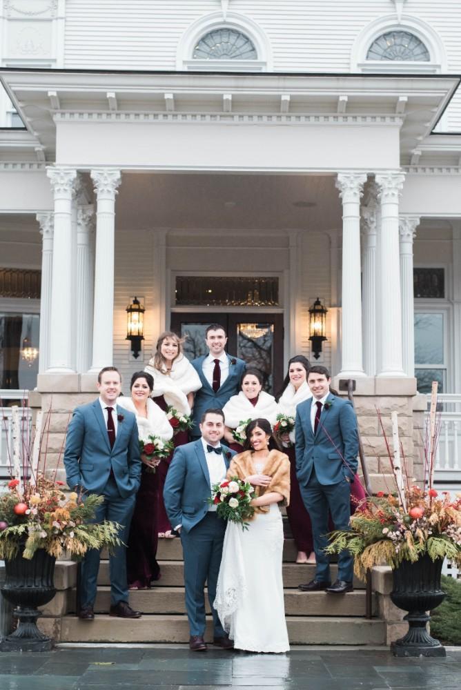 Christine Ken bridal party