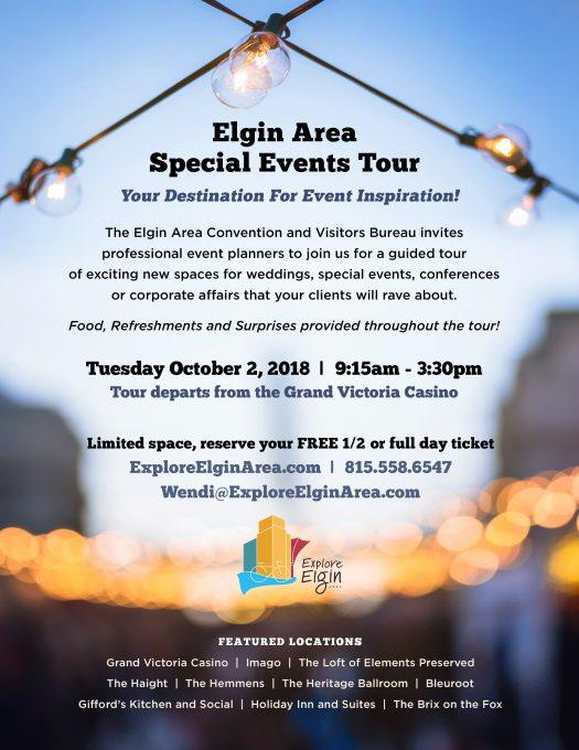 Elgin Area Special Events Tour for Planners and Wedding Professionals - Sept 2018