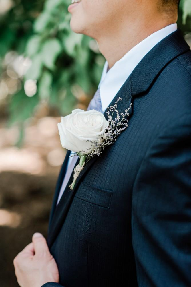 rustic purple groom