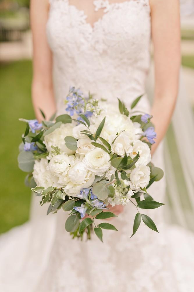 charles maggie bride bouquet