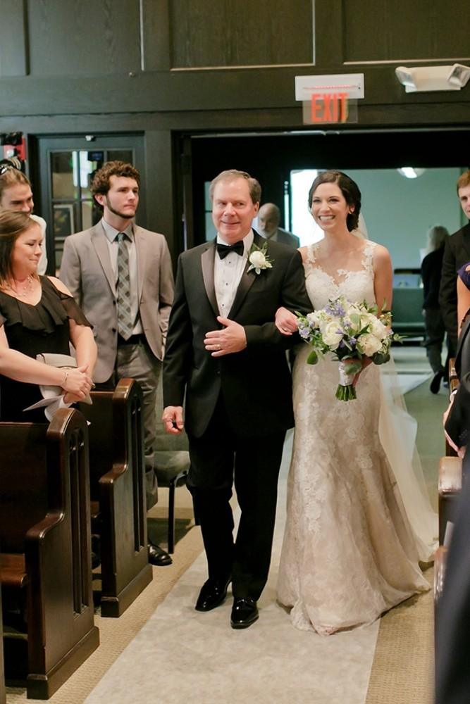 maggie charles father walking down aisle