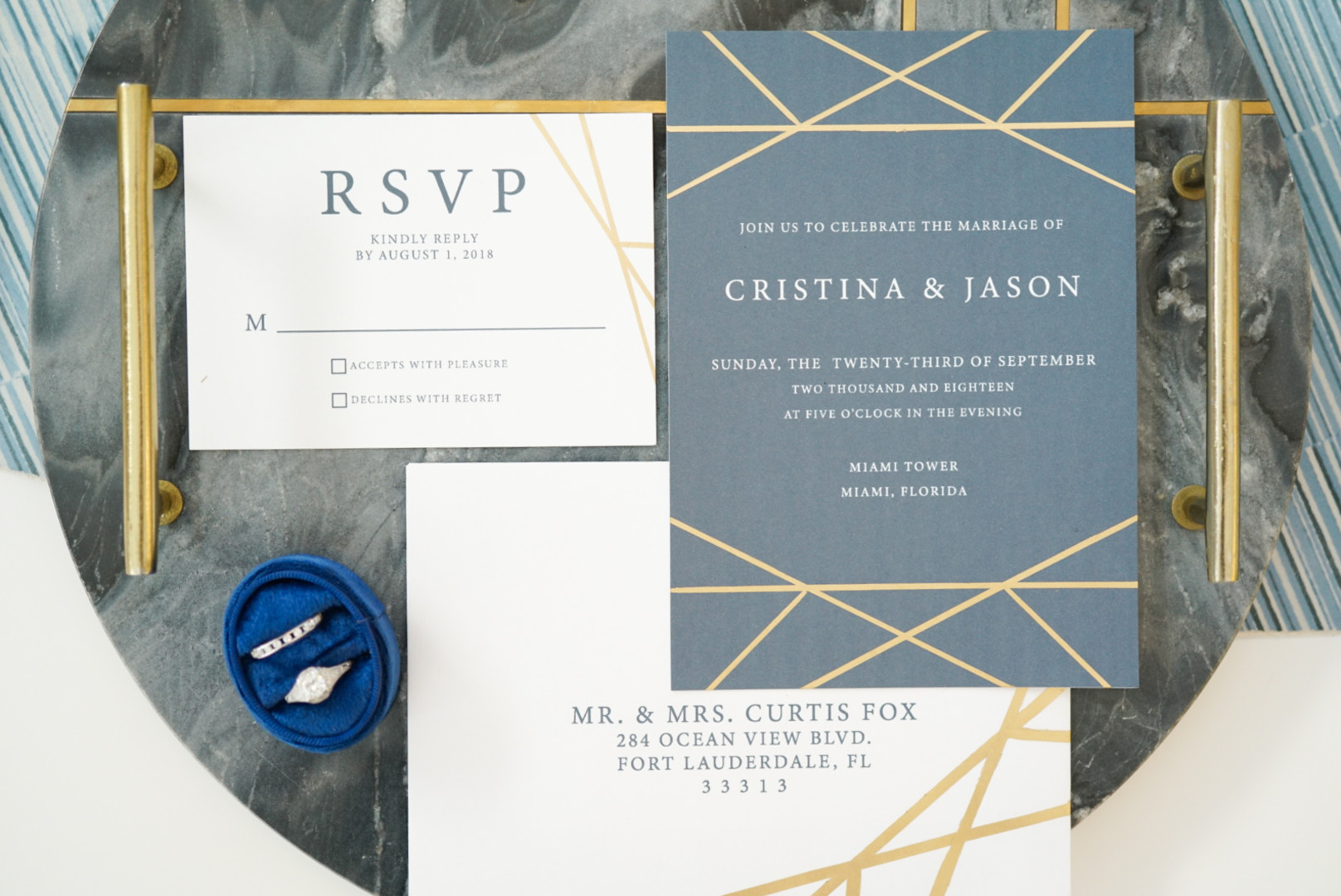 Modern Miami Rooftop Wedding Inspiration - The Celebration