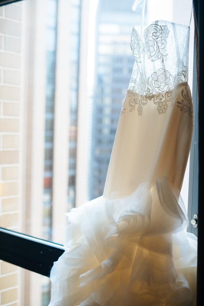 dominique and william wedding dress