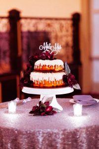 dominique and william wedding cake