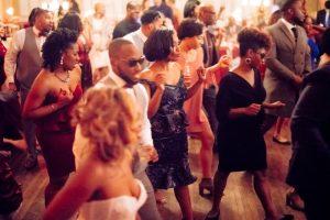 dominique and william reception dancing