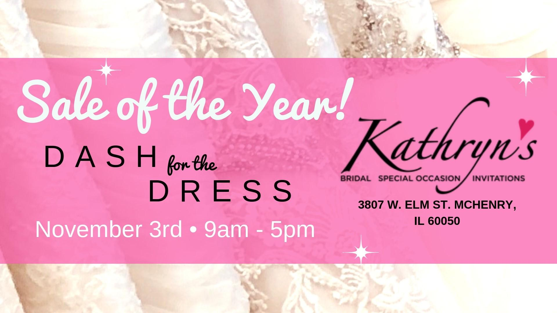 Kathryn's Bridal Sale of the Year - Dash for the Dress - November 2018