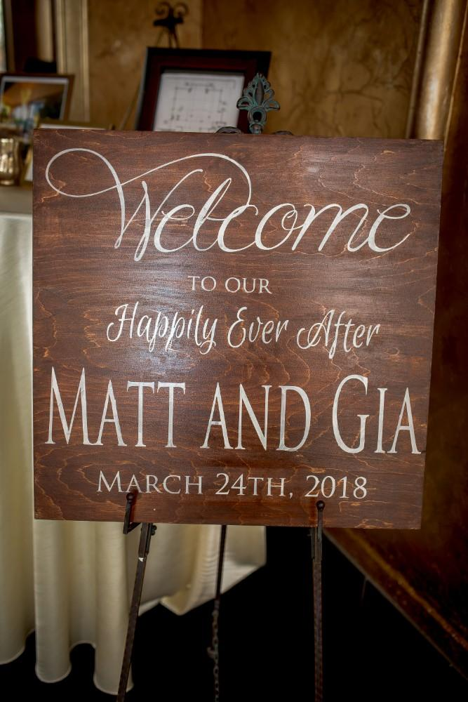 gia matt welcome sign