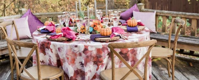 thanksgiving inspired wedding reception decor