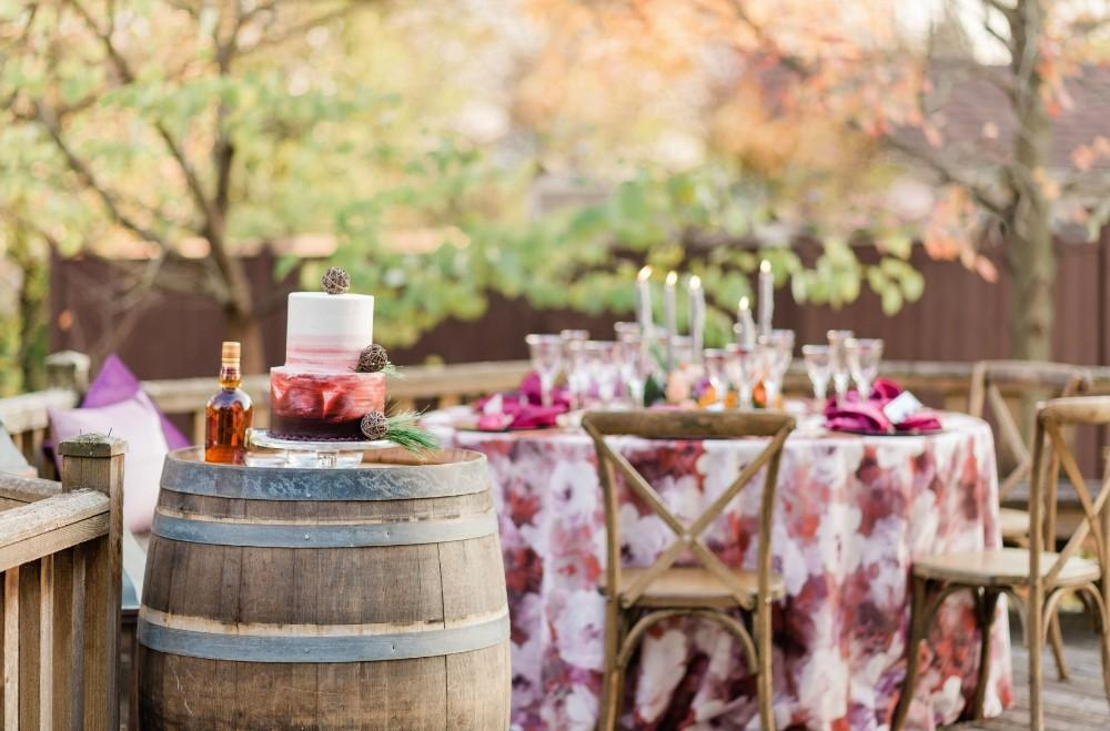 thanksgiving inspired fall wedding reception decor