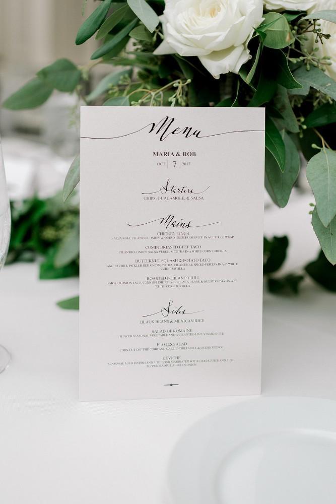 mar and rob menu