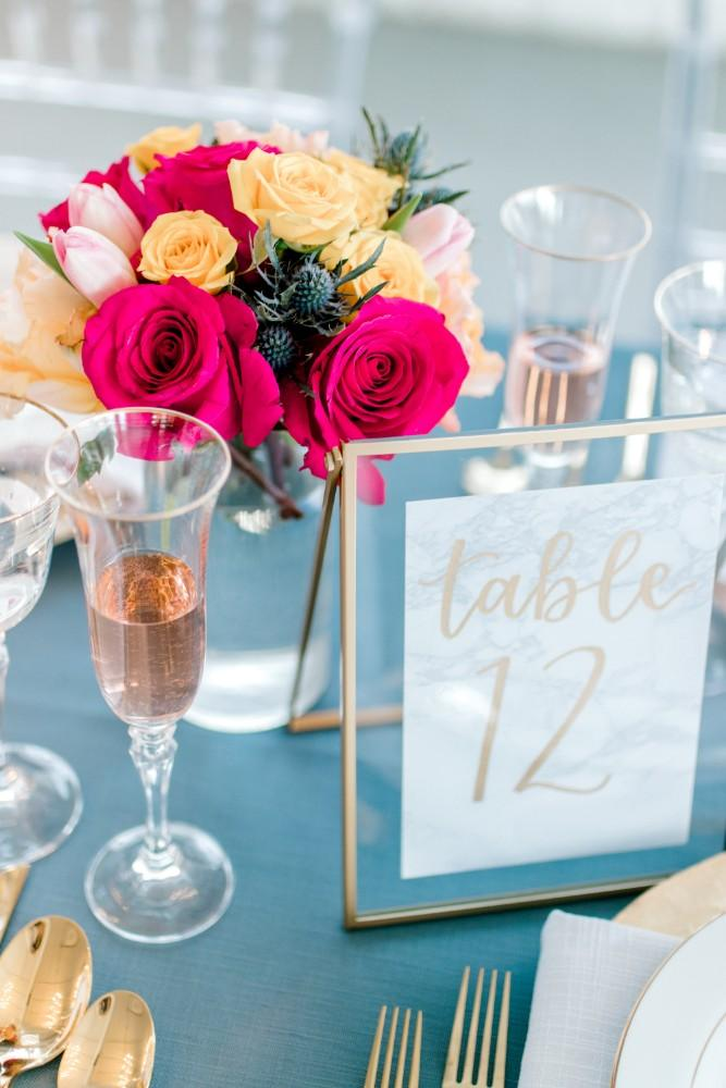 styled shoot bold colors room 1520 table numbers