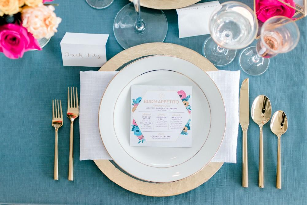 styled shoot bold colors room 1520 place setting