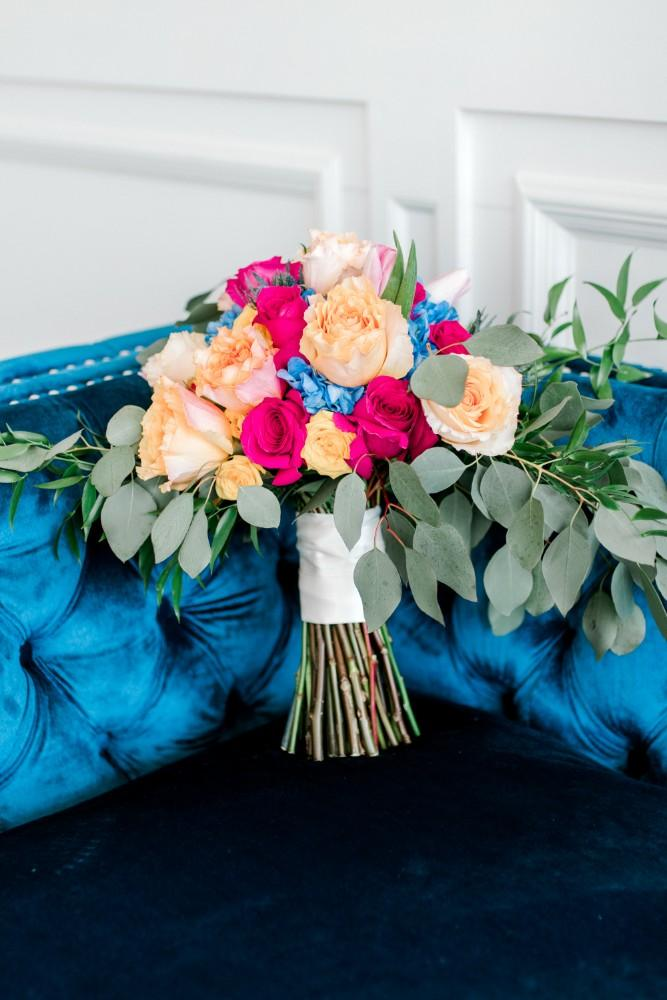 styled shoot bold colors room 1520 bridal bouquet