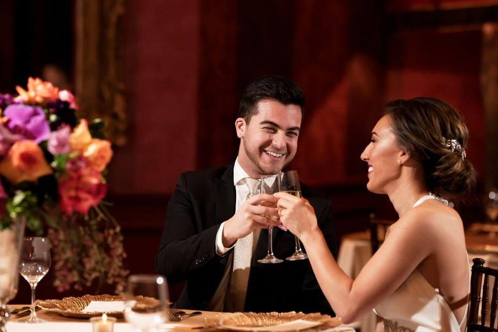styled shoot the clubhouse bride groom toast