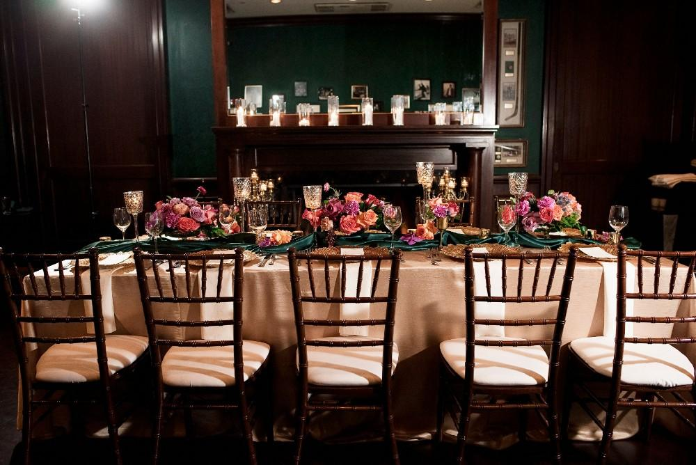 styled shoot the clubhouse reception table