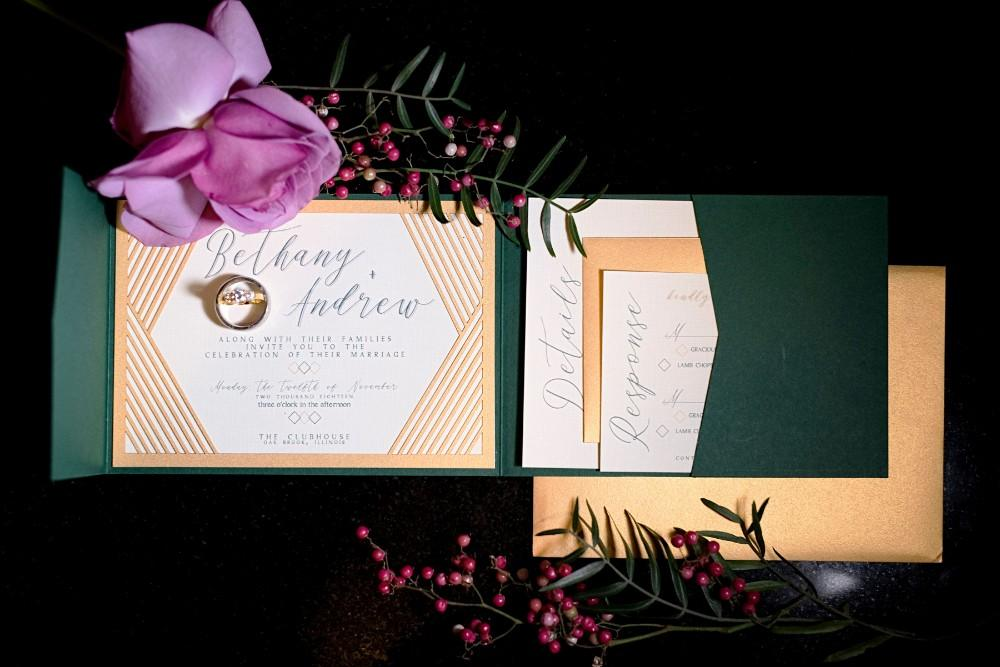 styled shoot the clubhouse wedding invitations