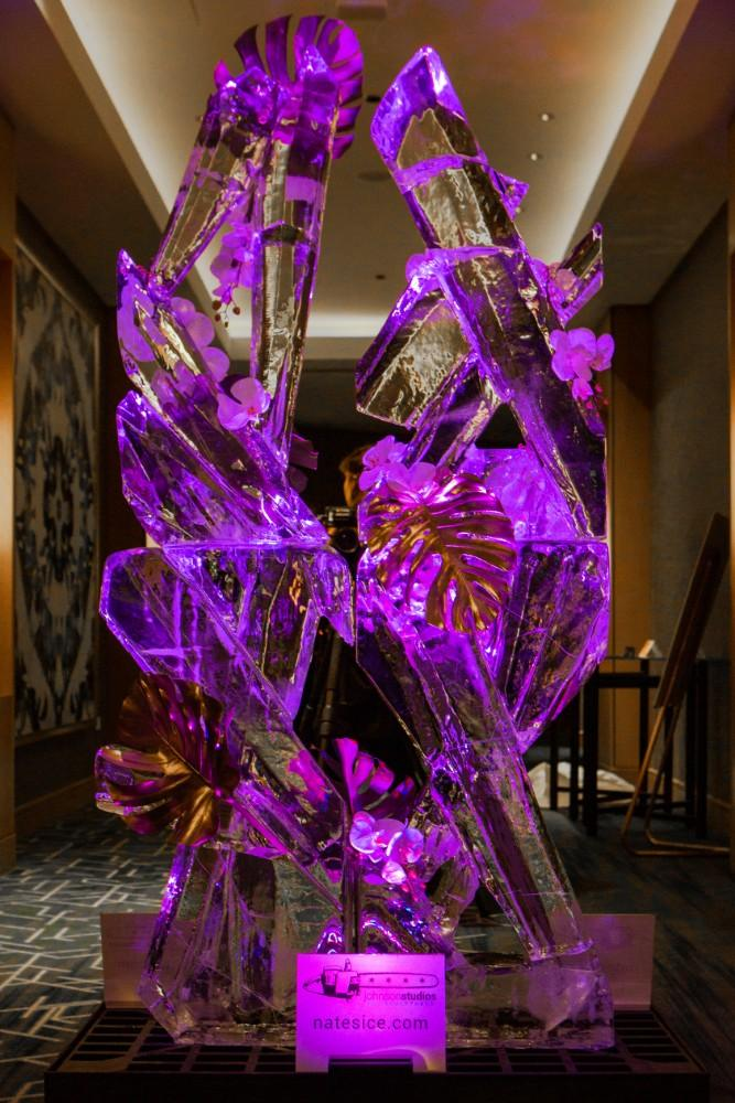 csw launch party jan 2019 swissotel ice sculpture