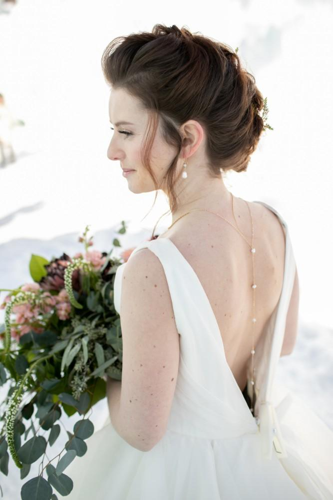 ice castles styled shoot bride